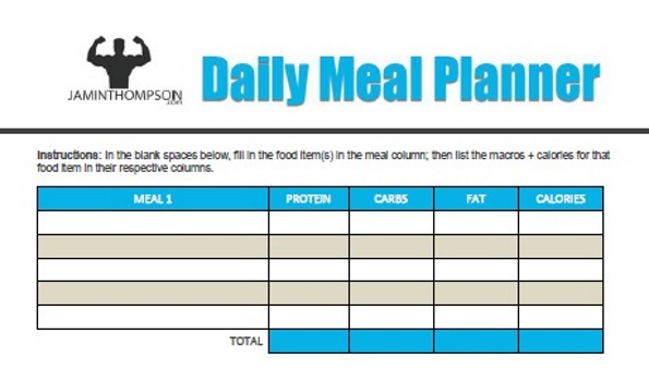 Free Printable Meal Plan Template Meal Planning